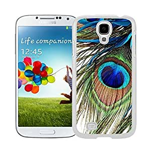 Unique White S4 Case Peacock Feather Watercolor Samsung Galaxy S4 I9500 Case White Cover by icecream design