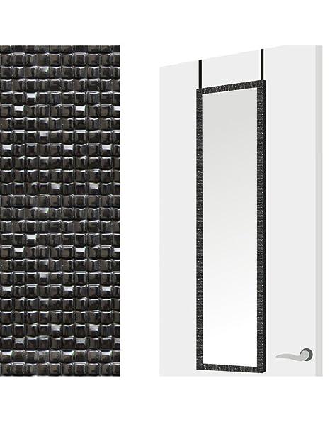 Home Line Espejo para Puerta en Color Negro