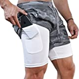 Surenow Mens Running Shorts,Workout Running Shorts for Men,2-in-1 Stealth Shorts,7-Inch Gym Yoga Outdoor Sports Shorts