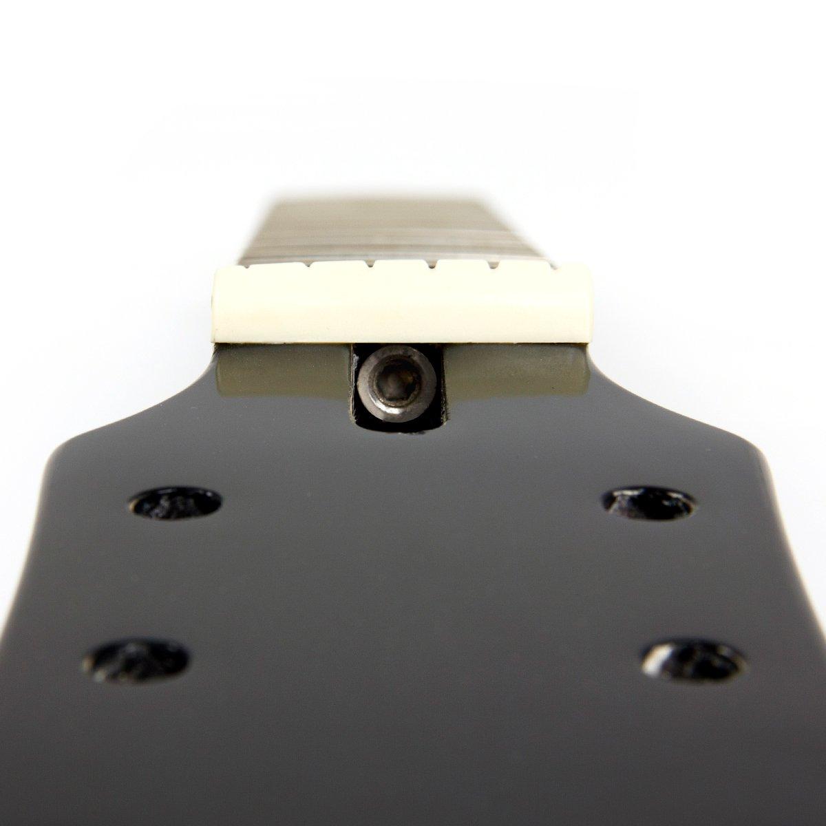 Kmise - Repuesto de cuello de guitarra eléctrica en madera de caoba y palisandro con 22 trastes para guitarras Gibson Les Paul, color negro, ...