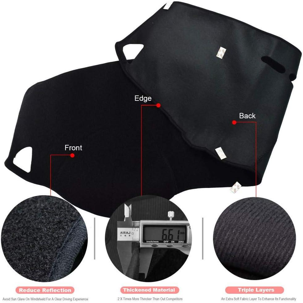 pour Dodge Ram 1500 2500 3500 2010-2018 XHULIWQ Accessoires de Protection de Pare-Soleil de Couverture de Tableau de Bord de Voiture