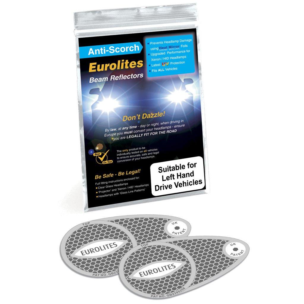 Eurolite Left Hand Drive Headlight Beam Converters For Driving In UK Travel Spot