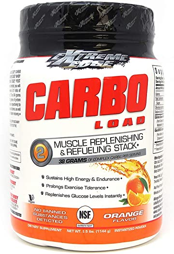 Bluebonnet Nutrition Extreme Edge Carbo Load Powder, Orange Flavor, 2.5 Pound