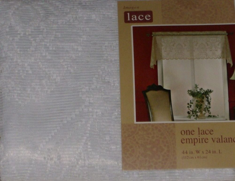 Home Imogen White Lace Empire Window Valance Curtain Topper