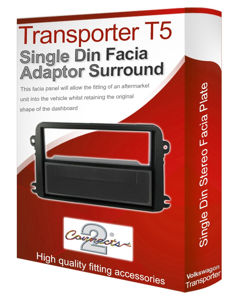 VW Transpoter T5 stereo radio Facia Fascia adapter panel plate trim CD surround Connects2