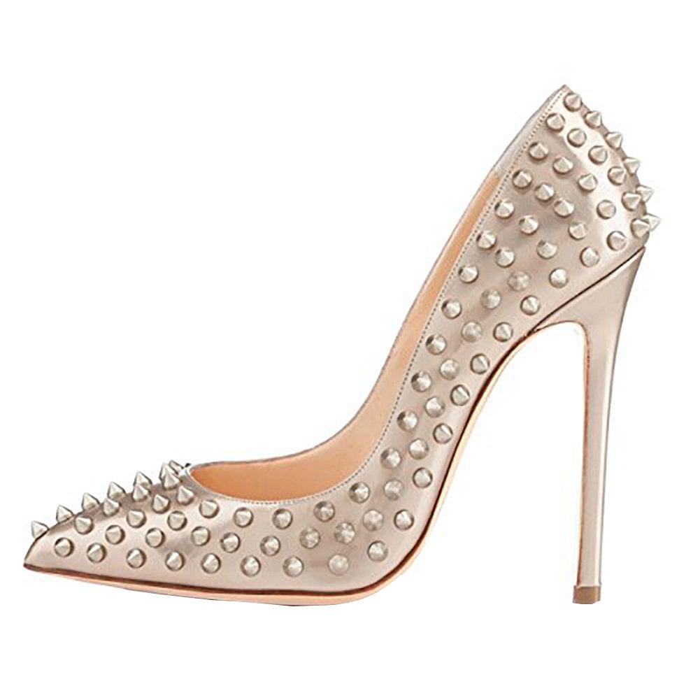Vaneel Mujer Cmnkoj Tacón De Aguja 12CM Sintético Ponerse Zapatos de tacón 42 EU Plateado
