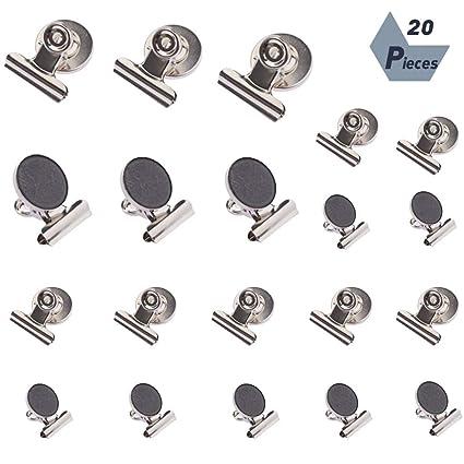 20 clips magnéticos para nevera, imanes de nevera, clips de metal ...