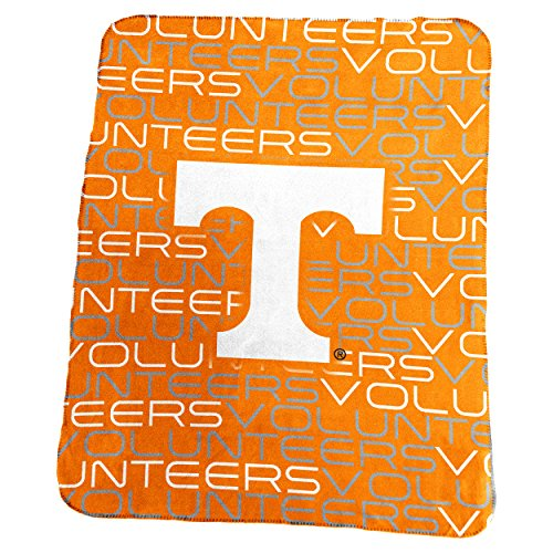 Logo Brands NCAA Tennessee Volunteers Classic Fleece Throw, One Size, Tangerine (Tennessee Volunteers Fleece Throw)