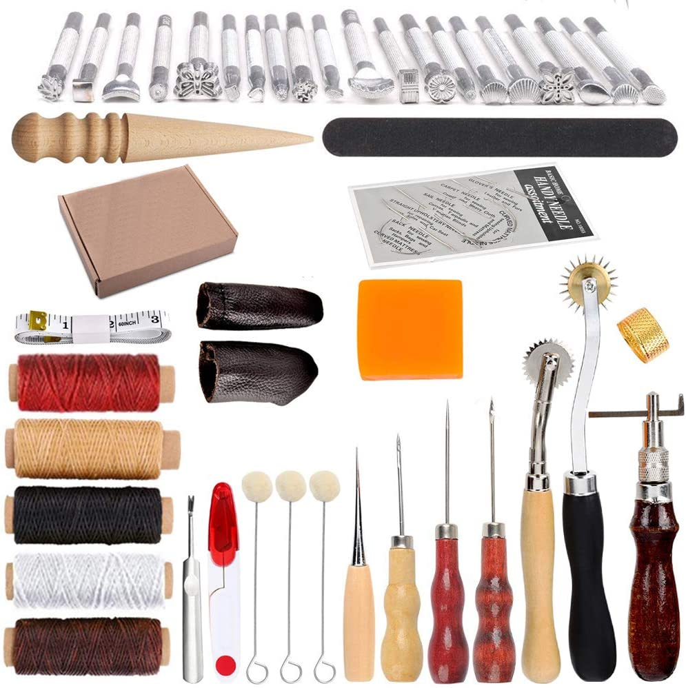 Professional Stamps Set Tool Leather Craft Making DIY Accessories Kits