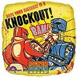 "Mylar Foil Balloon 18"" Square Rock'em Sock'em Robots Birthday Party Favors"