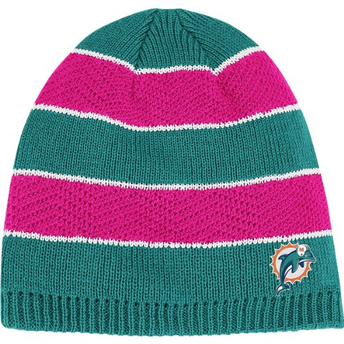 (Reebok Miami Dolphins Women's Breast Cancer Awareness Knit Hat One Size Fits All)