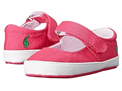 bd4fc7aca9 Amazon.com   Polo Ralph Lauren Layette Baby Girls Sandy MJ Canvas ...