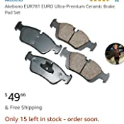 Amazon Com Akebono Eur781 Brake Pad Set Automotive