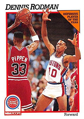 Dennis Rodman Basketball Card (Detroit Pistons) 1991 Hoops Defensive Player of the Year #64