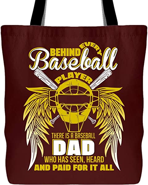 Being A Dad Tote Bag with Long Shoulder Strap, I'm Baseball Player