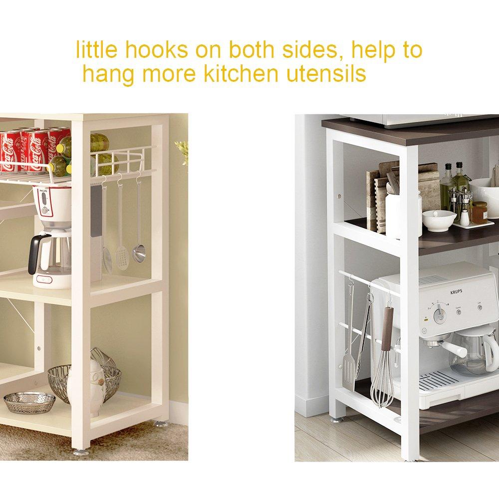 Mixcept Multi-purpose 3-tier Kitchen Baker's Rack Utility Microwave Oven Stand Storage Cart Workstation Shelf W5S-BK-MI (Black) by Mixcept (Image #5)
