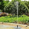 Solar Fountain Pump, Free Standing 1.4W Bird Bath Fountain Pump for Garden and Patio, Solar Panel Kit Water Pump