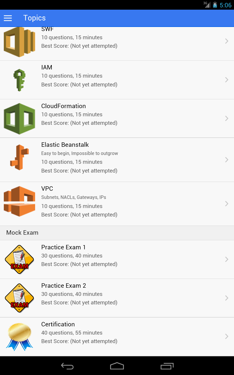 add android application logic to aws cloud