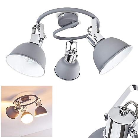4-flammige Deckenleuchte Metall Lampenschirme weiß Deckenstrahler Industrial