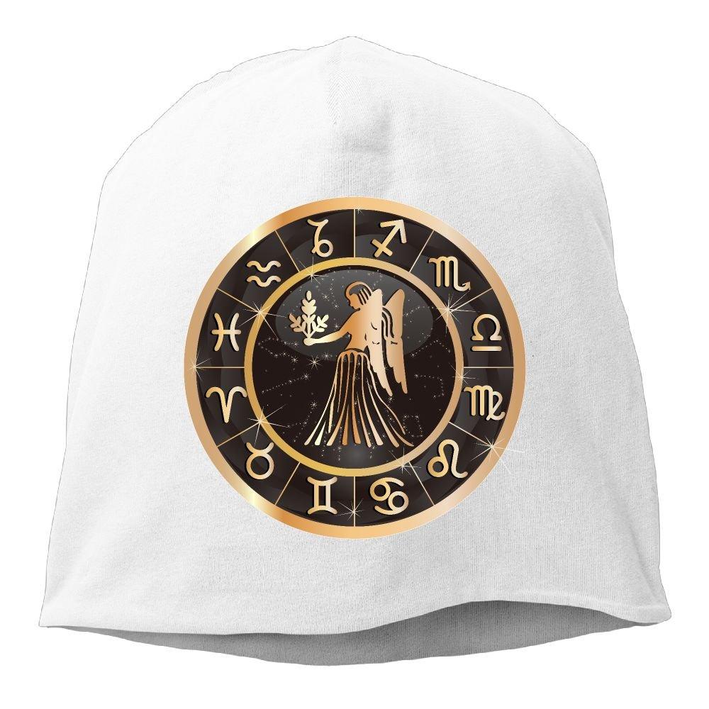 Amazon.com   Rose Gold Virgo Constellation Unisex Warm Winter Hat Knit  Skull Beanie Slouchy Beanie Hat Cap White   Sports   Outdoors 3d91dcb2bb2