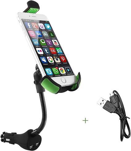 2-in-1 soporte de coche encendedor con dual USB cargador de coche ...