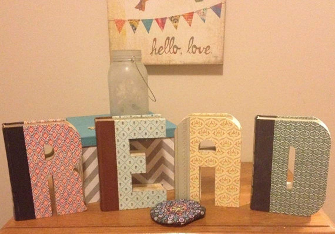 Book Letters - Custom UpCycled Vintage Readers Digest - Anthropologie Inspired