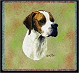 Pure Country 3382-LS English Pointer Pet Blanket, Canine on Beige Background, 54 by 54-Inch