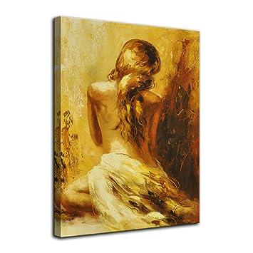 Amazon Com Amemny Abstract Sexy Golden Nude Woman Bedroom Decor