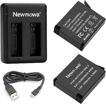 Paquete de 3 Newmowa bater/ía de Repuesto y Cargador de 3 Canales para GoPro Hero 9 Black Totalmente Compatible