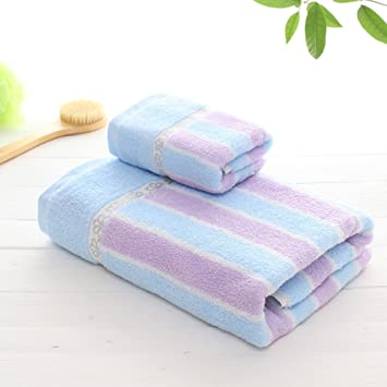 Toalla de baño suave- Toallas de algodón toallas para adultos 1 toalla +1 traje de ...