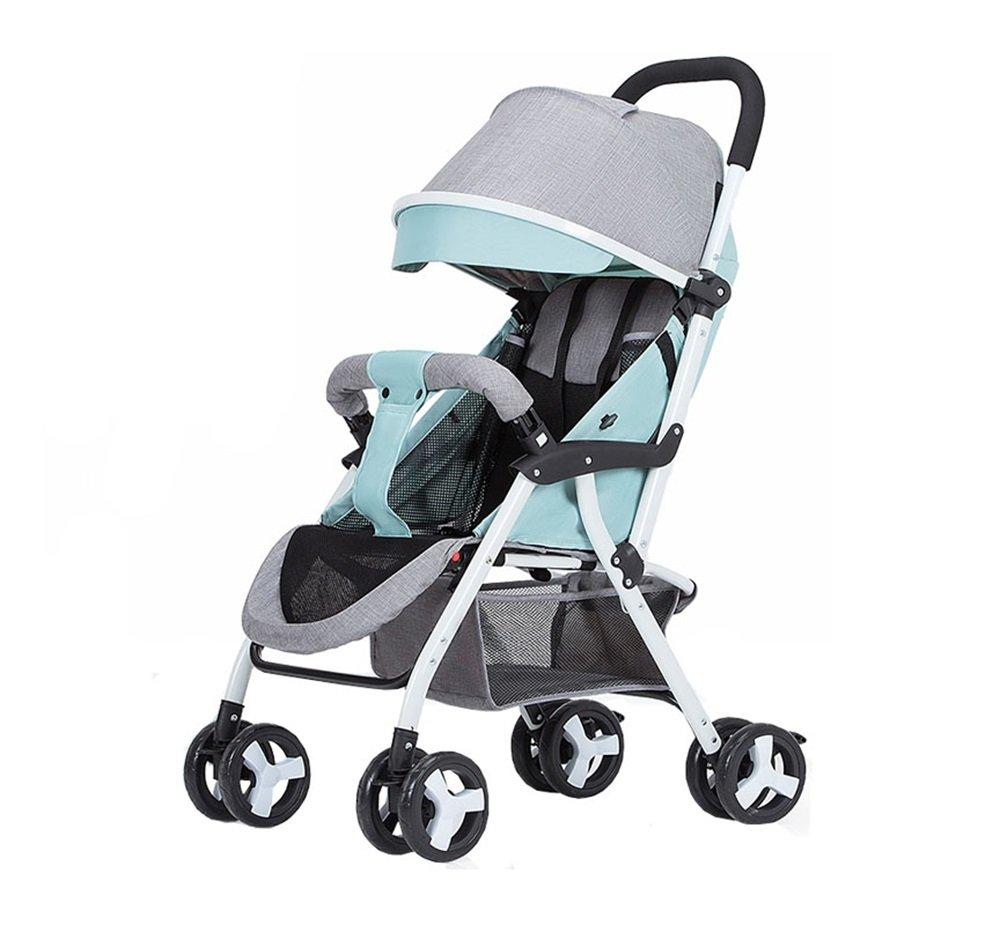 XnZLXS-Cochecitos Carretilla portátil para bebés, para niños, Peso Ligero, Plegable, Cuatro Estaciones Paraguas, Coche, 1-3 años, vehículo para Cuatro Ruedas