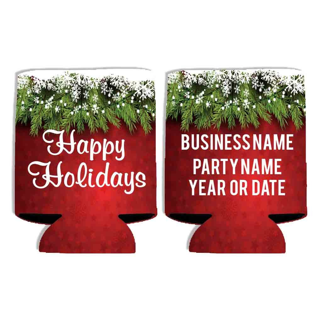 Custom Business Holiday Party Can Cooler - Happy Holidays (250) by VictoryStore