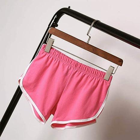DKXLW Pantalones Cortos De Mujer,Rosa Algodón Cintura Alta Verano ...