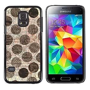 """Pulsar Snap-on Series Teléfono Carcasa Funda Case Caso para Samsung Galaxy S5 Mini ( NOT for regular S5 ) , Modelo de punto Mano Arte Dibujado"""""""