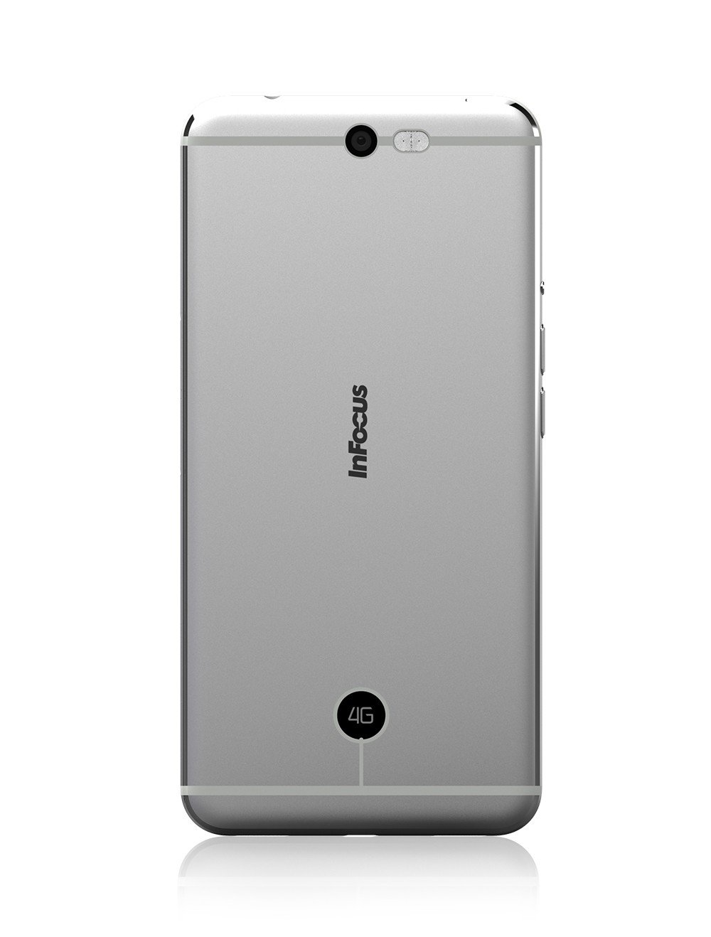 Infocus M812i Silver Electronics Glitter Bling Wrap Skin For Oppo A37