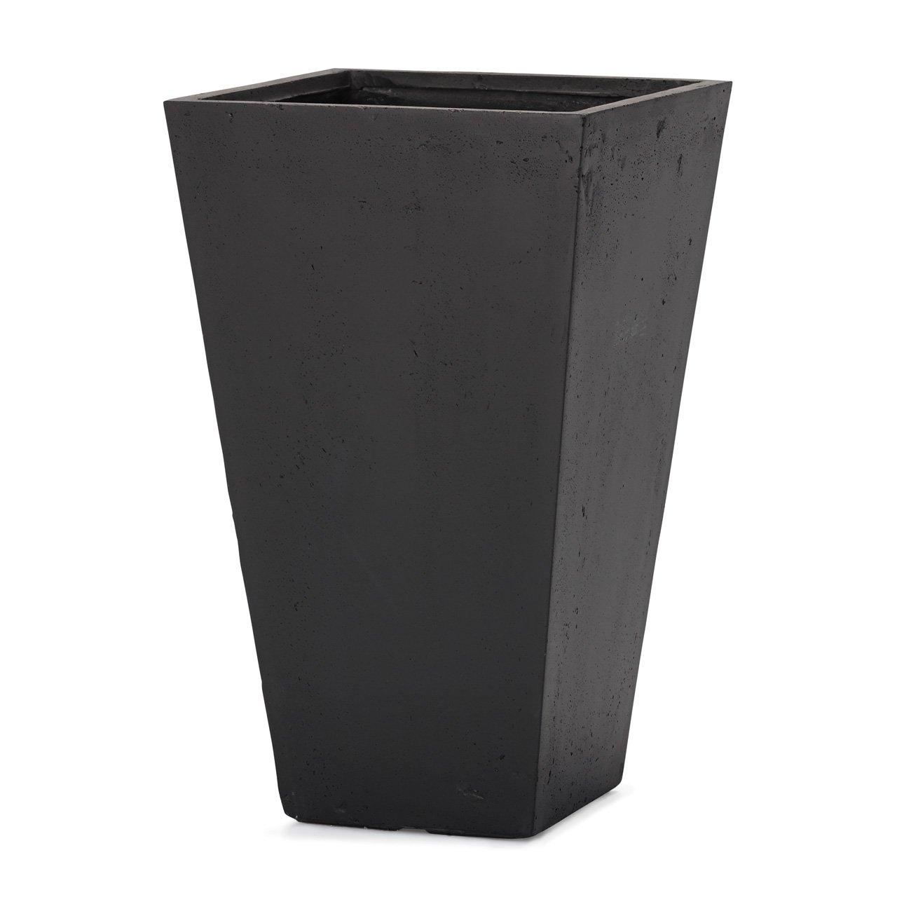 植木鉢 大型 ファイバークレイプロ ゼータ スクエアトール プランター ブラック B00L4ST2A6  ブラック