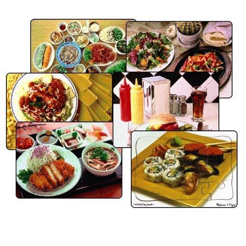 Multi-Ethnic Food Puzzle Set (Set of 6) ()