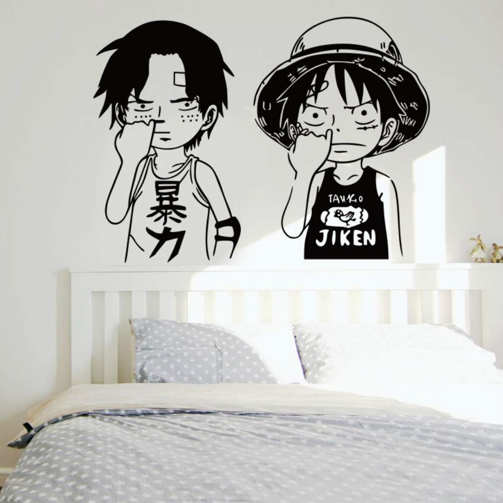 Amazon com one pieces stickers monkey d luffy ace straw hat pirates car stickers wall room decal home kitchen