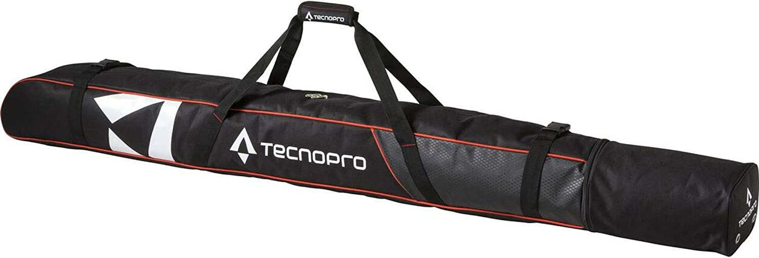 TECNOPRO Skisack Cover Carving 1P SCHWARZ//ROT