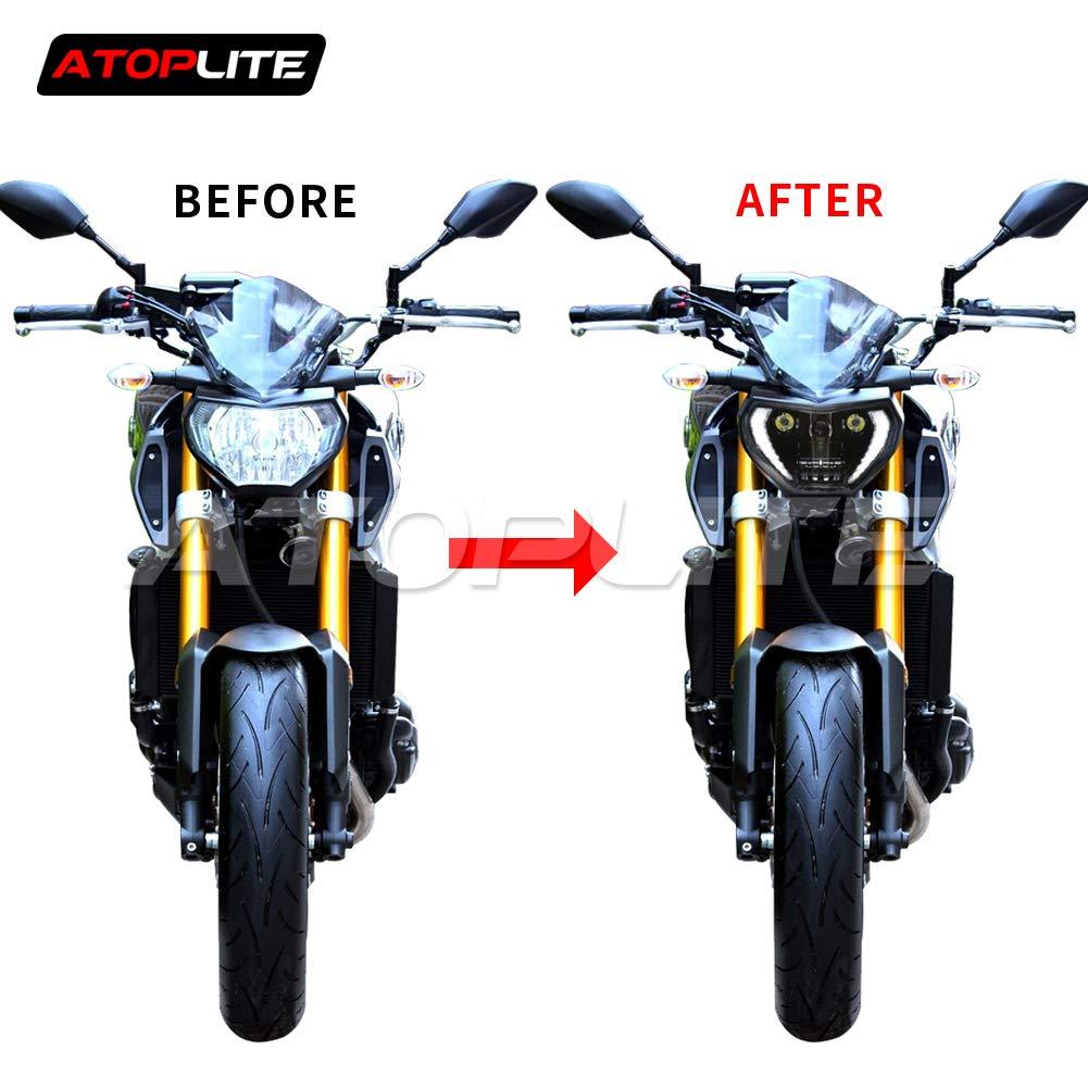 Atoplite Original Designed LED Headlight Fit for Motocycle YAMAHA FZ07 FZ09 MT07 MT09