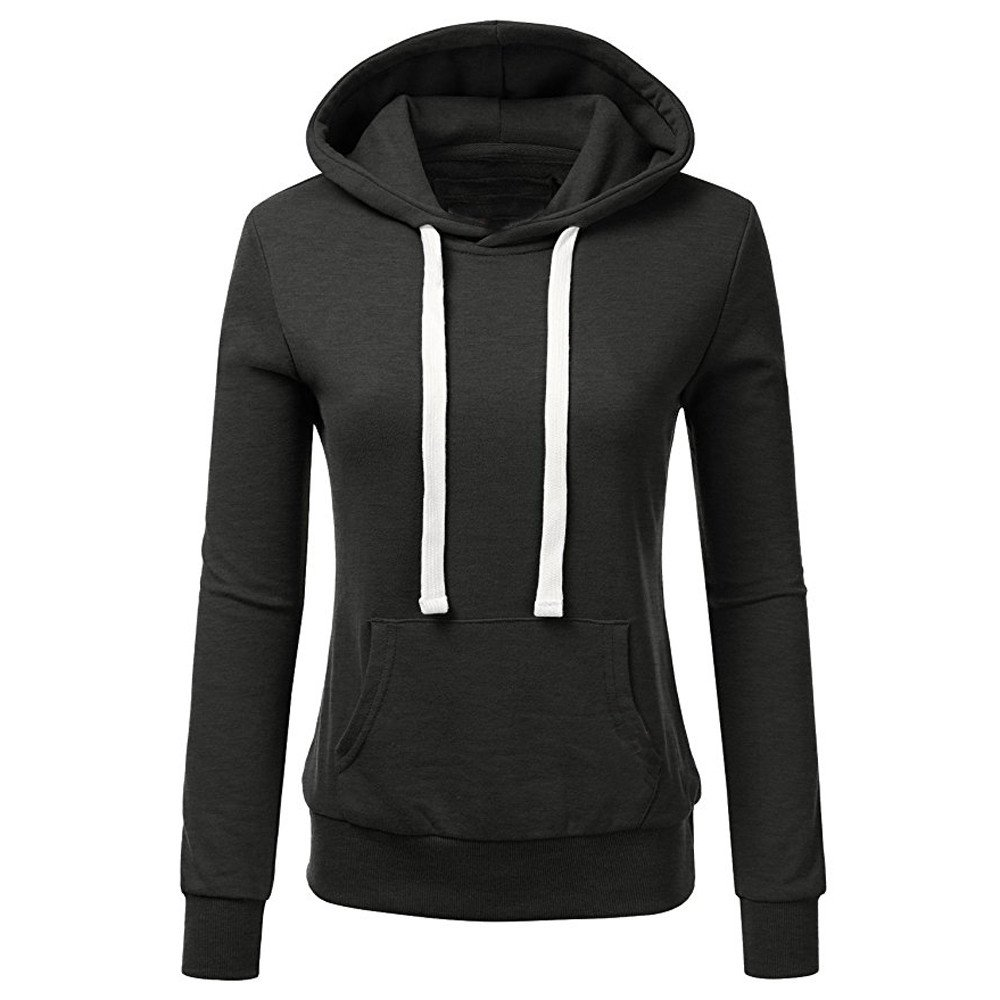 bb92c297 Ulanda Womens Casual Hoodies Sweatshirt Color Block Long Sleeve Hooded Tops  Jumper Pullover with Pockets at Amazon Women's Clothing store: