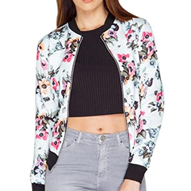 Overdose Bombers Femme Fleuri Casual Bomber A Motif Chic Tops