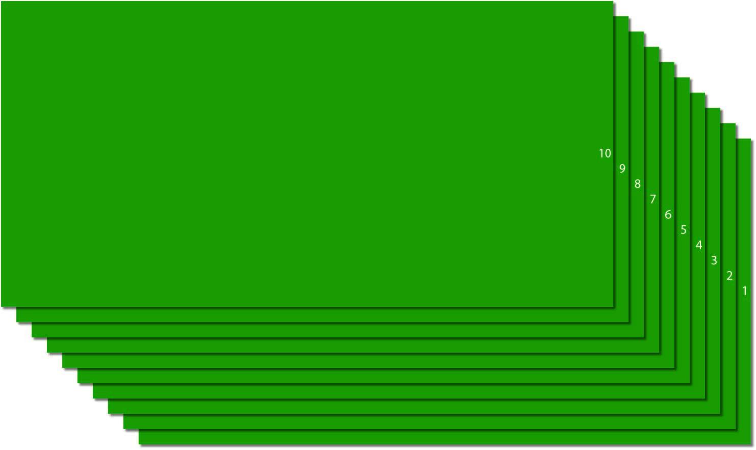 Green Intermediate Cal Vinyl Made in USA, Assembled by DevonPro 12  x 24  10 Sheets (Metallic gold)