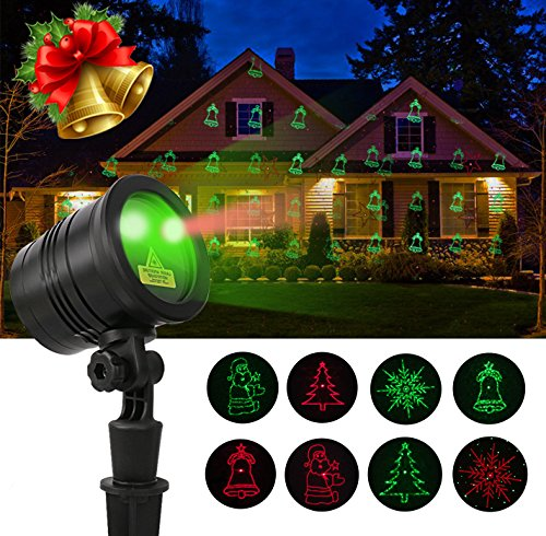 Porjector Lights- Halloween Garden Wireless Remote Moving Waterproof Landscape Star Projector, Christmas Atmosphere Lights for Holiday, Party, Wedding and Disco (Black2)