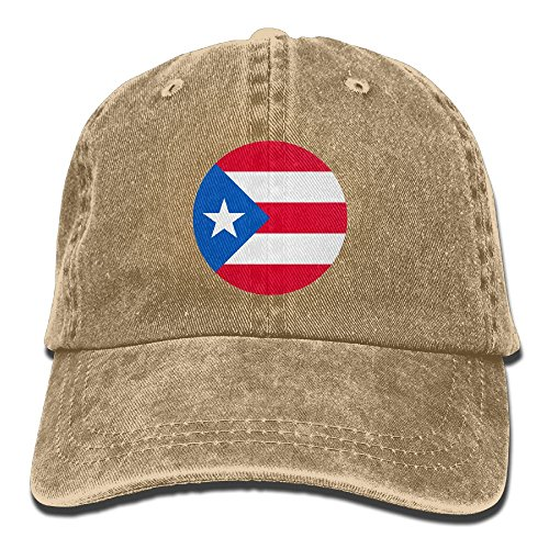 Adult Puerto-rico Sports Adjustable Structured Baseball Cowboy Hat