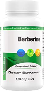 Berberine 500mg - Extra Large 120 Capsules | Powerful Supplement to Aid Blood Sugar Level, High Cholesterol, Metabolism, Heart Health & Weight Loss | Organic Metabolic Support for Diabetic Men & Women
