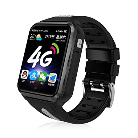 Goglor Kids Smartwatch Phone, Childrens Waterproof SOS Call GSM Sim Touch Screen 4G Smart Tracker Watch, Support WeChat Video Voice Chat/Game/APP ...