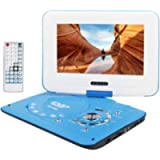 Smyidel 10.8' Portable DVD Player Supports SD Card/USB Port/CD/DVD, Remote Controller,2 Hour Rechargeable Battery, 9…
