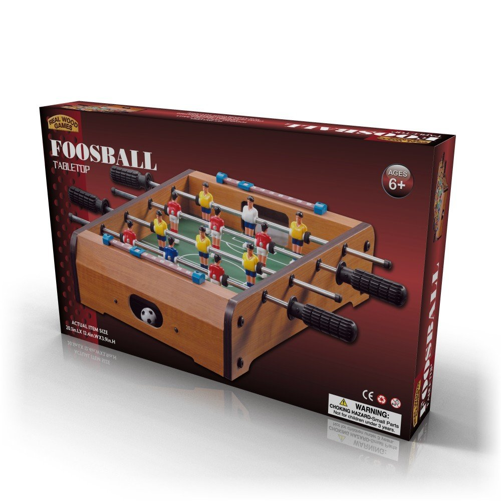 Homeware Hom-1710 Wooden Classic Mini Table Top Foosball (Soccer) Game Set-20, Wood