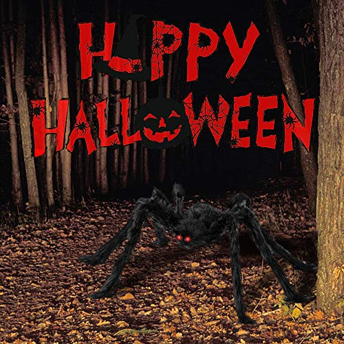 Halloween Decorations Spider, Halloween Spider with Web, 4 Differents Scary Giant Spiders, Cobweb&20Mini Plastic Spiders, Halloween Props for Indoor Outdoor
